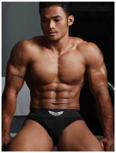 Asian bodybuilder type