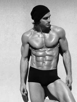 Shirtless male model ripped